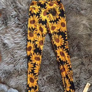 Sunflower LuLaRoe Leggings Sm